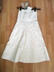 Coast lace dress white size 6