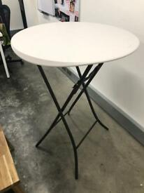 Foldable standing height bar table