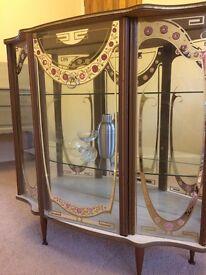 Gorgeous 1950s Retro Glass Drinks Cabinet £75. W91cm H94cm D30cm