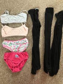 Girls underwear bundle age 7-8 years