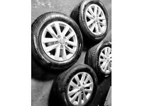 Vw transporter t5 t6 alloy wheels and tyres mint condition