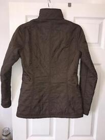 Ladies quilted Barbour jacket size 8