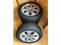 "BMW 16"" Steel Rims with Winter Tyres"