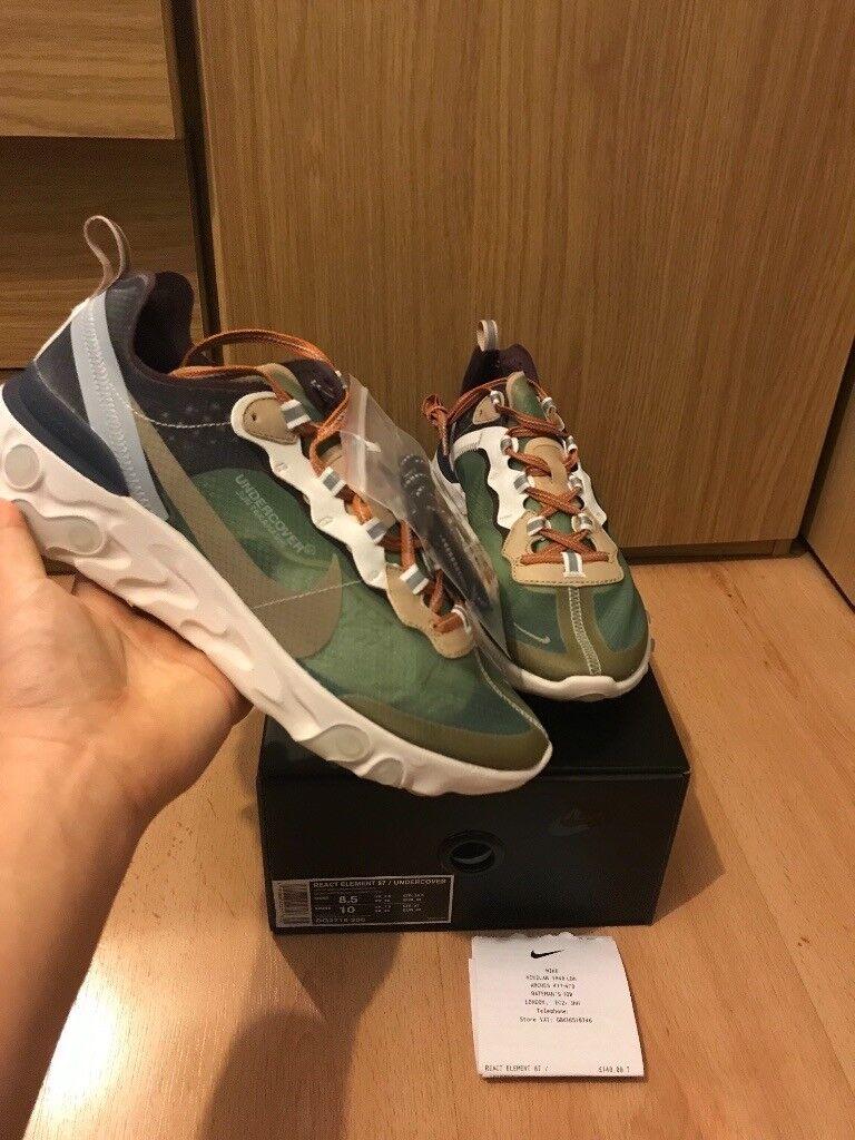 DSWT Nike React Element 87 Undercover Green Mist UK 7.5. Hackney 447ecffe5
