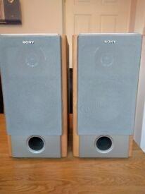 Pair of Sony Speakers Model No SS-NX1