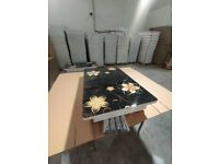 High Gloss Dining Table With Luxury Chairs On Discounted Prices