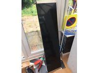 Black gloss shelf and Ikea Barnum brackets