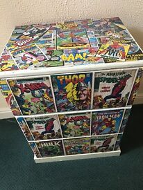 Custom made marvel solid wood chest of draws