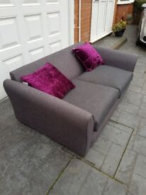 New contrasting grey 3 seater sofa