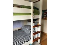 BUNK BEDS white that split in 2 singles - Excellent Condition Pet & Smoke Free