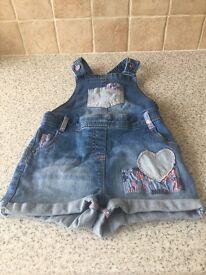 Overalls Jeans Short for girls like new
