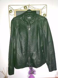 Ladies Faux Leather Jacket Size 18