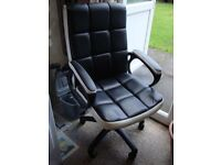 Executive Black/White Office Chair