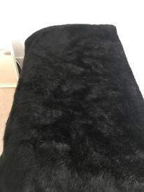 Luxury faux fur throw
