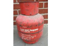 Red Empty Calor Gas Bottles 3.9kg
