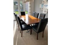 Pine wood dining table - seats eight RRP £1,200