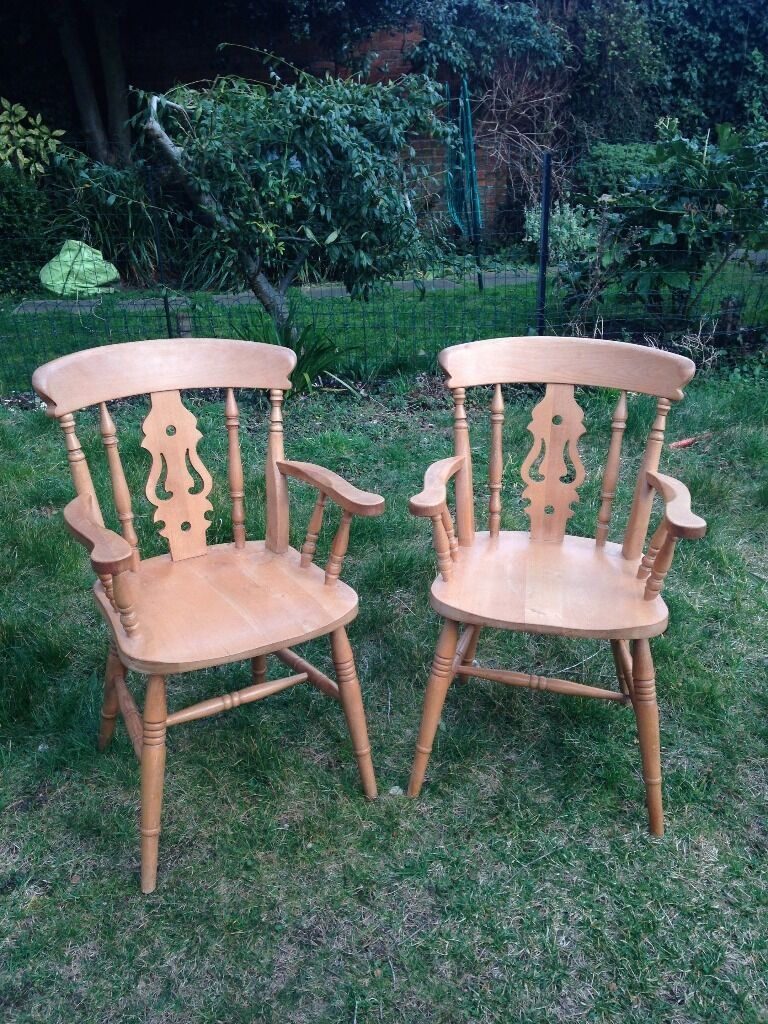 Pine Kitchen Carver Chairs