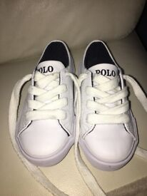 Ralph Lauren white trainers infant size 8.5