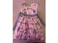 Girls designer mini club dress age 5-6