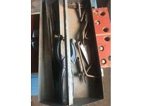 Old Tool Box With Various Old Tools call for info