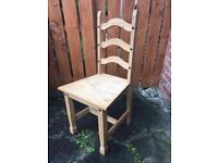 Natural wood chairs
