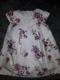 Baby girl floral dress age 9/12 months
