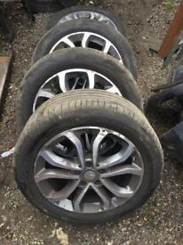 Mercedes c class w205 alloy wheel set x4 with tyres 17 inch call for any info