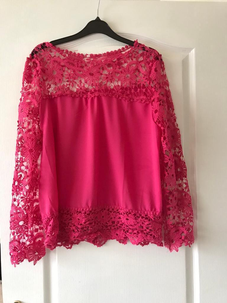 Pink Lacey Top .. 14s