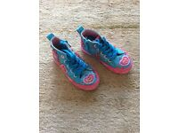 Girls beaded trainers - size 8