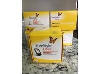 Free style Libre glucose monitoring systems and 4 sensors