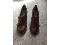 Clarks brown leather shoes heels