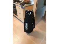 Donnay Golf Bag and 10 Assorted Clubs