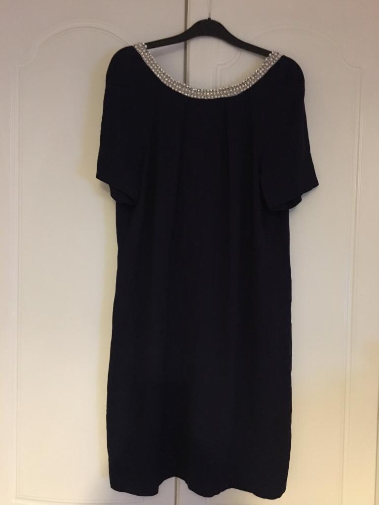 Monsoon navy dress, generous size 14