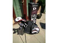 Wilson Deep Red Golf Clubs.