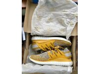 BRAND NEW Adidas Tubular Nova PK (Primeknit) UK Size 9 1/2 (US Size 10) Nomad Yellow/Clear Granite