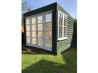 Home Office Summer House Fully Insulated Double Glazed Windows