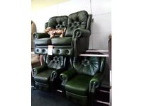 Saxon chesterfield sofa recliner chair