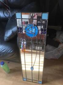 stained glass lead mirror