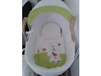 Moses Basket with stand -Unisex