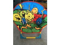 Child's Foldable Moon Chair - Mr Men