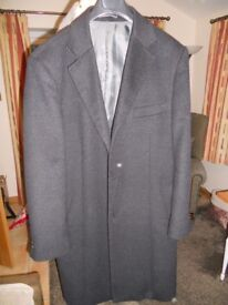 Men's Pierre Cardin wool/cashmere overcoat - charcoal (bought for £150)