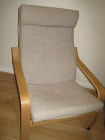 Poang arm chair, beige, IKEA, good condition