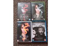 Girl with the Dragon Tatto DVDs (4 Movies)