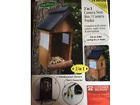 Bird nest box feeder with camera brand new