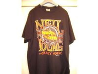 NEIL YOUNG AND CRAZY HORSE RARE T SHIRT