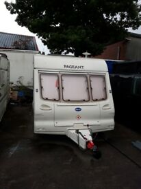 2 berth Bailey Pageant. Motor mover. no pets, no smokers. Great condition with end bathroom