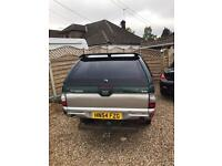 Mitsubishi l200 rear canopy with windows with spoiler