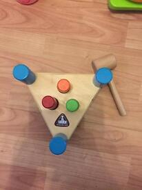 ELC Wooden hammer and bench