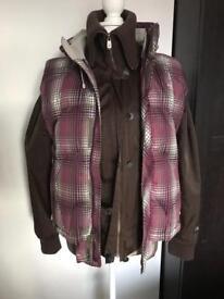 Ladies genuine Lge North Face jacket & bodywarmer