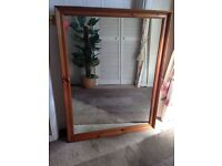 Large Pine Frame Wall Mirror